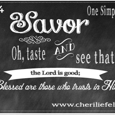 Savor: My One Simple Word for 2014